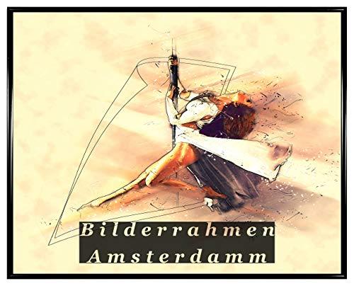 Homedecoratie fotolijsten Amsterdam zwart mat kunststof frame met kunstglas 1 mm breukvast glashelder 60 x 80 cm zwart mat 11