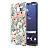 Pnakqil Funda Samsung Galaxy S8, Silicona Transparente con Dibujos Diseño Slim Gel TPU Antigolpes Ultrafina de Protector Piel Case Cover Cárcasa Fundas para Movil Samsung GalaxyS8, Azafrán Blanca