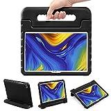 LEADSTAR Funda para Samsung Galaxy Tab A7 10.4-Inch 2020, Ligero y Super Protective Antichoque Estuche Protector Diseñar Especialmente Manija Caso con Soporte para los Niños SM-T500 T505 T507 (Negro)