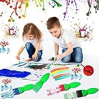 Pennelli in Spugna E Tazze Di Vernice, Set Di Strumenti Per Pittura Per Bambini Con Grembiule, Set Di Pittura Per Bambini Per Apprendimento Precoce Di Arte E Artigianato Per Bambini (56 Pezzi) #6