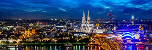 Köln Kölner Dom Skyline City XXL Panorama Wandtattoo Bild Poster Aufkleber W0031 Größe 200 cm x 66 cm