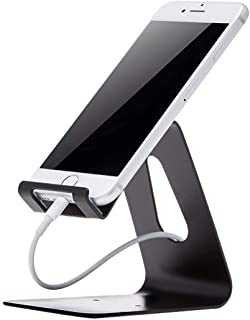 AmazonBasics Cell Phone Desk Stand for iPhone and Android, Black