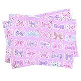 ランチョンマット 女の子 子供用 おしゃれ 布 給食 ランチョンマット スタンダード リボンデコレーション N3689500