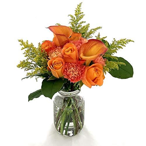 Rachel Cho Floral Design - Orange You Nice - Fresh Cut Flower Bouquet - Fast Delivery - Fresh Flowers - Floral Arrangement - Flower Bouquet - Approx. 4 lbs. 15' x 9' - with Vase