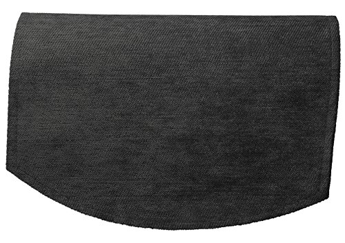 Classic Home Store Chenille Single Chair Back Plain Soft Touch Antimacassar Sofa Furniture Cover (Grey)