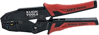 Klein Tools 3005CR Wire Crimper Tool, Ratcheting Insulated Terminal Crimper for 10 to 22 AWG Wire