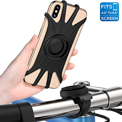 Handyhalterung Fahrrad,abnehmbar 360°verstellbare Fahrrad Handyhalterung, universal Motorrad Handyhalterung für Allen Handy,Full Screen fre&liche Handyhalter für Rennrad MTB Motorrad Kinderwagen