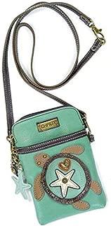 Crossbody Cell Phone Purse - Women PU Leather Multicolor Handbag with Adjustable Strap