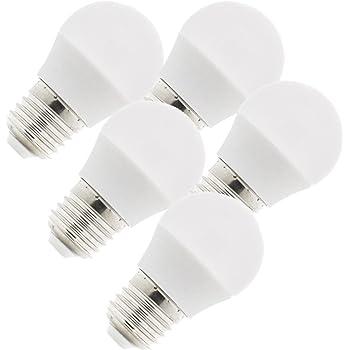KHEBANG Bombilla LED E27 G45 9W Luz Amarilla Cálida Pack de 5 ...