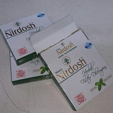 Nirdosh Herbal Cigarette Pack of 60 Cigarette Made with Ayurvedic Herbs (3 Packs)
