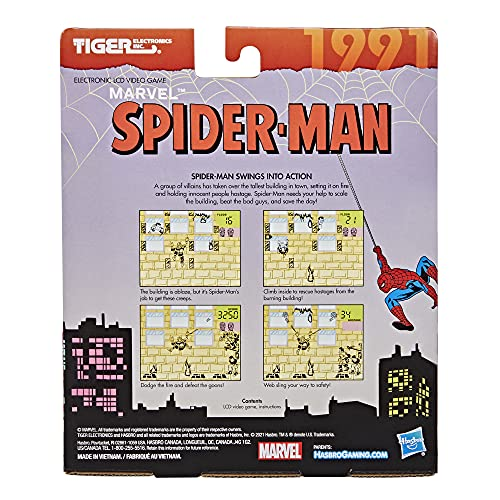Tiger Electronics Marvel Spider-Man Electronic LCD Video Game, Retro-Inspired 1-Player Handheld Game, Ages 8 and Up