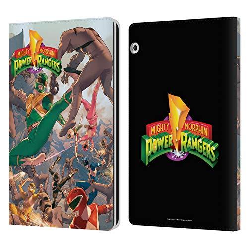 Head Case Designs sous Licence Officielle Power Rangers #1 Cover Principal Rétro Art Comique Coque en Cuir à Portefeuille Compatible avec Huawei MediaPad T3 10