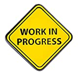 Pinsanity 'Work In Progress' Sign Enamel Lapel Pin
