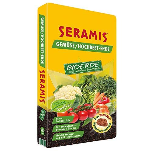 Seramis torffreie Bio-Erde für Gemüse & Kräuter, Hochbeet Erde, 40 Liter, 731540