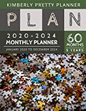 5 year monthly planner 2020-2024: 2020-2024 Five Year Planner : internet Logbook and Journal, 60 Months Calendar (5 Year Monthly Plan Year 2020, 2021, 2022, 2023, 2024 ) | jigsaw puzzle design
