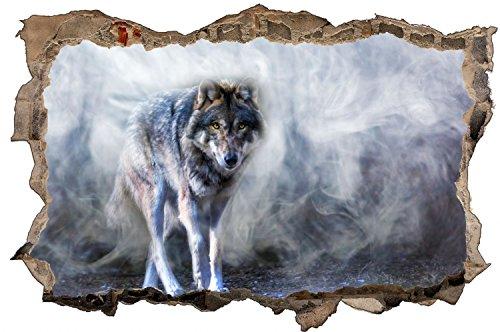 Wolf Natur Tier Wildness Wandtattoo Wandsticker Wandaufkleber D0645 Größe 70 cm x 110 cm