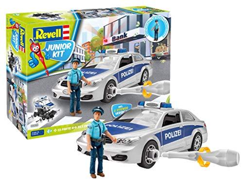 Revell 820 Polizei-Auto mit Spielfigur Junior Kit, bunt, Länge ca. 23,5 cm