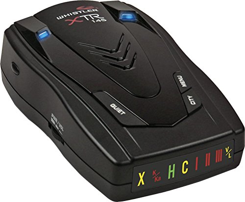 Whistler XTR-145 Laser Radar Detector: 360 Degree Protection, Icon Display, and Tone Alerts