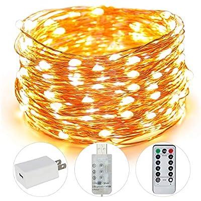 AUING Fairy Lights, 100 LED 33FT USB Indoor Str...
