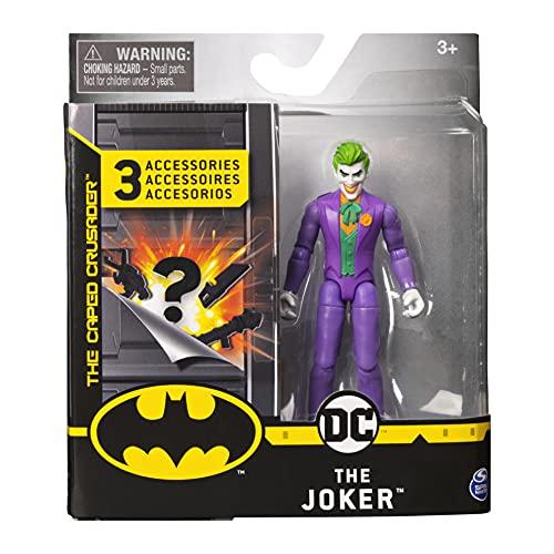 DC Comics- Batman - Joker, personaggio da 10 Cm con 3 Accessori Misteriosi, dai 3 Anni - 6056747