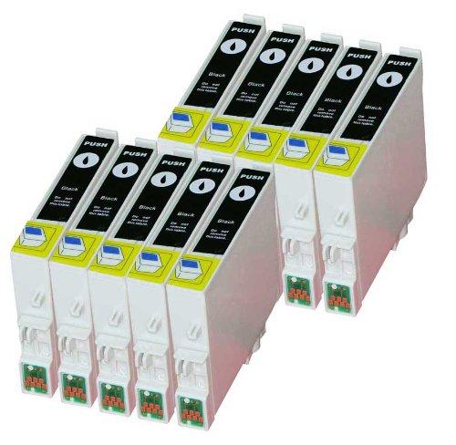Premium Pack de 10cartuchos de tinta para T de 0481, T 0481Epson Stylus Photo R200, R210, R220, R300, R300M, R310, R320, R340, RX300, RX500, RX600, RX620, RX640