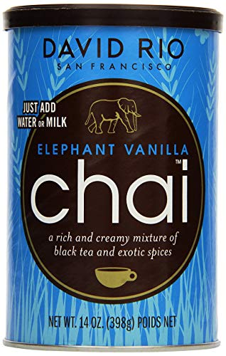 David Rio Chai Elephant Vanilla aus San Francisco, Pappwickeldose (1x398 g)
