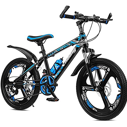 HHORB Bicicleta para Niños, 20 22 24 Pulgadas Bike Bike Bicicletas De Montaña, Bicicleta De Montaña De Freno De Velocidad De 21 Velocidades, Niños De Crucero, Niñas, Chicas,Azul,24 Inches