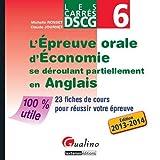 L'épreuve Orale D'économie Se Déroulant Partiellement En Anglais - Dscg 6 - 23 Fiches De Cours Pour Réussir Votre Épreuve
