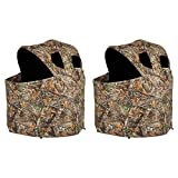 Ameristep Durashell Plus Portable Camouflage Hunting Tent Chair Blind (2 Pack)