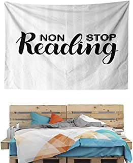 HuaWuChou Non Stop Reading Theme Tapestry DIY, Wall Hanging for Bedroom Living Room Dorm, 59W x 39.3L Inches