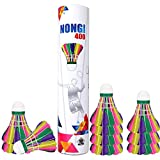 Best Badminton Shuttlecocks - NONGI 400 Colored Feather Badminton Shuttlecock Review