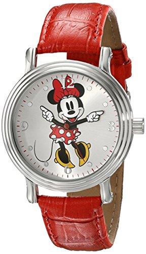 Disney Women's W001877 Minnie Mouse Analog Display Analog Quartz Red Watch