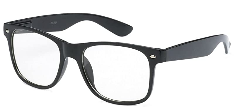 WebDeals - Childrens Kids Nerd Clear Lens Eye Glasses Non Prescription Ages 3 to 9