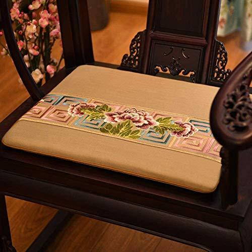 Mirui Chinese Palisander Stuhl Sofakissen Tatami Bodenkissen verdicken Non Slip Sitzkissen Fenster Sitzpolster Weiche Futon Sitzkissen (Color : E, Size : 45x45cm(18x18inch))