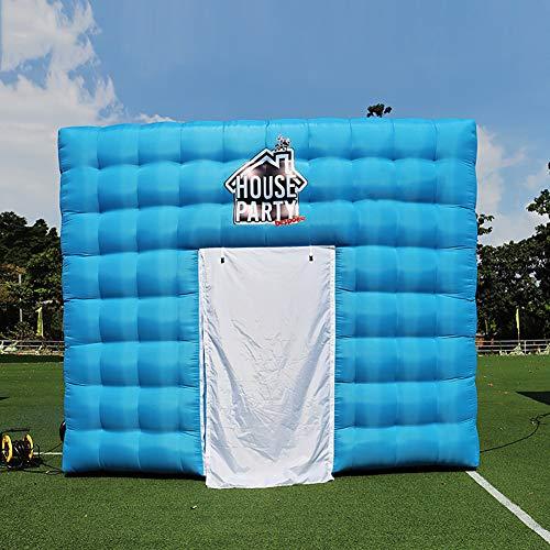 HXML Personalisierte aufblasbaren Würfel-Zelt 4.6X4.6X3.6 Meter Platz Hinterhof-Parteien-Zelt Spielzeug-Spiel-Haus mit Blower,Blau