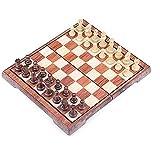 Ajedrez de madera, plástico, viaje, piezas de ajedrez magnéticas, tablero de ajedrez plegable portátil, ajedrez para competición, entrenamiento, tablero de ajedrez, juego para niños, adultos, estimu