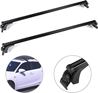 SCITOO fit for 1995-2000 Ford Contour,2007-2018 Ford Edge,2001-2018 Ford Escape,1990-1995 Ford Escort Adjustable 55†Aluminum Roof Top Cross Bar Set Rock Rack Rail