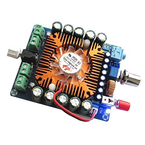 ARCELI Tablero del Amplificador de Potencia Digital TDA7850 4 Canales 50W x 4 Tablero del Amplificador de Alta fidelidad con Sistema de enfriamiento de Control de Temperatura