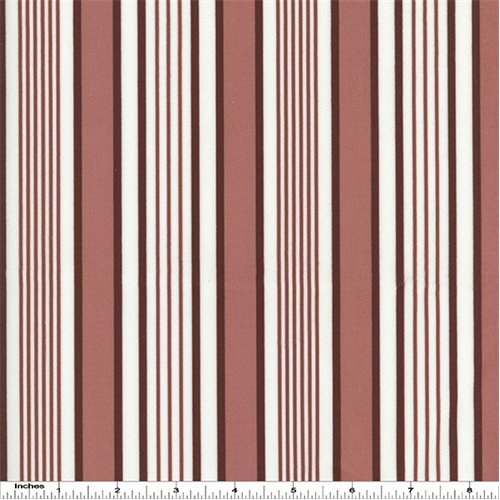 Designer Burgundy/White Stripe Print Velveteen Performance Home Decorating Fabric, Fabric by The Yard