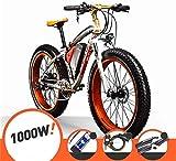 Bicicleta eléctrica Bicicleta eléctrica por la mon Bicicleta de montaña eléctrica bicicleta eléctrica de gran alcance grande cubierta de montaña eléctrica 48V 17AH 1000W Beach E-bici del crucero 21 de