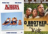 The Offbeat road picture Movie Collection Cohen Brothers O Brother Where Art Thou? + Raising Arizona Double Feature Film Bundle