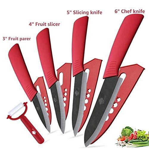 Cuchillos de cocina cuchillo de cerámica de óxido de zirconio japonesa Cuchillo Negro Hoja pelado de la fruta de cerámica Los cuchillos de cocina de chef Conjunto Cuchillos de cocina