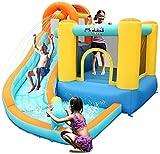 Vivid Diapositiva Infantil / al Aire Libre Bouncy Castle / Pequeño Casa Plaza Trampoline / Niño Regalo Favorito (Incluyendo Ventilador Inflable), Amarillo, 320 * 280 * 210cm