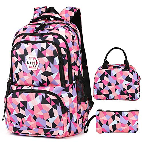 SCIONE School Backpacks Set for Teen Girls,Women Lightweight College School Bag-Travel Laptop Backpack for Student Cute Teen Bookbags Set (15.6inch)