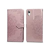 Wallet Leather Phone Case For phone 6 6s 7 8 Plus X Xs Xr XsMax 11 11Pro 11ProMax 12 Embossed embossed mandala-Pink-For phone 7 Plus
