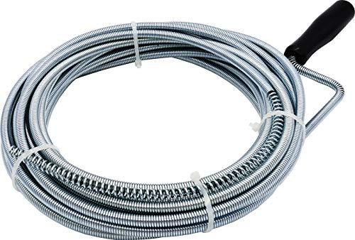 3 bis 10 m Rohrreinigungsspirale mit Bohrspitze für Abfluss & Siphon Dusche Waschbecken Bad (10 m x 8 mm)