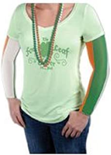 Mardi Gras Irish Party Arm Sleeves/ Fake Tattoo Temporary (fake) tattoo - Irish Party Sleeves in orange, white, and green Ireland national flag colors.