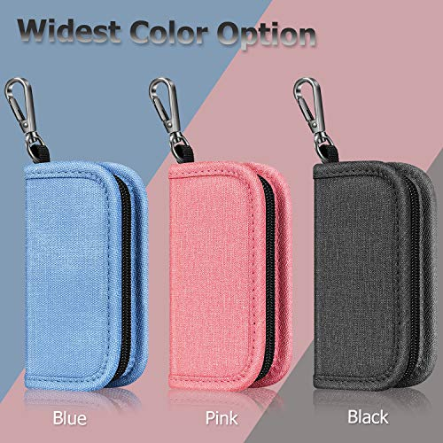 Carrying Case Wallet Holder for JUUL and Other Popular Vapes Pods and Charger Holds Vape Fits in Pockets or Bags(Pink)