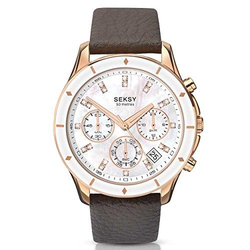 Sekonda Seksy señoritas Chrono 365Oro Rosa Reloj cronógrafo 2213