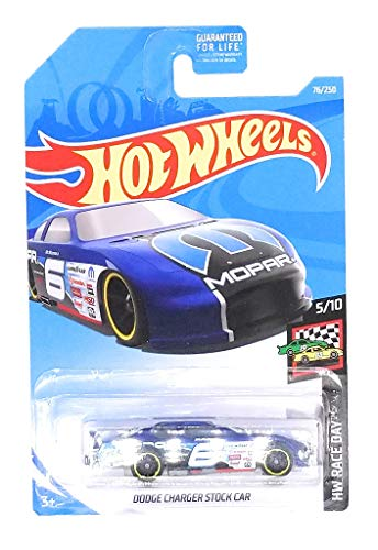 Hot Wheels 2019 HW Race Day Dodge Charger Stock Car 76/250, Blue